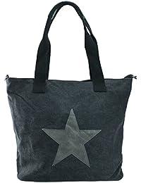 "'bag2basics Bolsa de lona con estrella Impresión | ""Made in Italy | Bandolera Ibiza II, diversos colores"