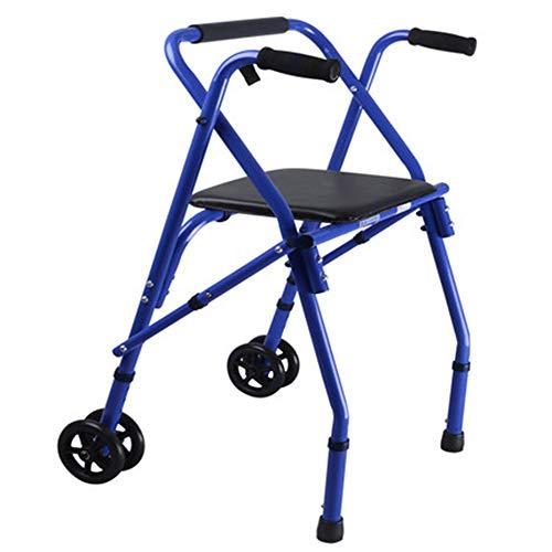 AA-SS-Elderly Standard Walkers Ältere Standardwanderer Das Fahrrad des Alten Mannes kann Faltbare tragbare Einkaufswagenwagen-Einkaufswagen Aluminiumwanderer Falten