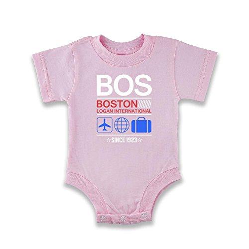 Pop Threads Herren T-Shirt, rosa, 906778 (Boston Red Sox-vintage)
