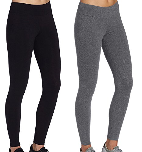 iLoveSIA Jogginghosen Damen Sport Stretch Leggings grau+Schwarz Strumpfhosen Jogging Damen Hose,L -