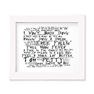 Tom Petty Poster Print - Full Moon Fever - Lyrics Gift Signed Art