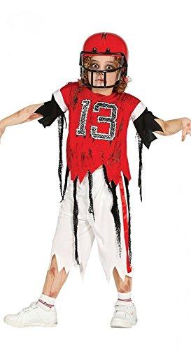 shoperama Kinder Kostüm Zombie Quarterback American Football Jungen Sportler Halloween Horror, Kindergröße:116 - 5 bis 6 Jahre