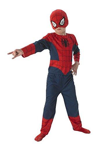 Ultimate Spiderman Kinder Kostüm 3tlg. Hose Oberteil Maske (Kostüme Spiderman 1)