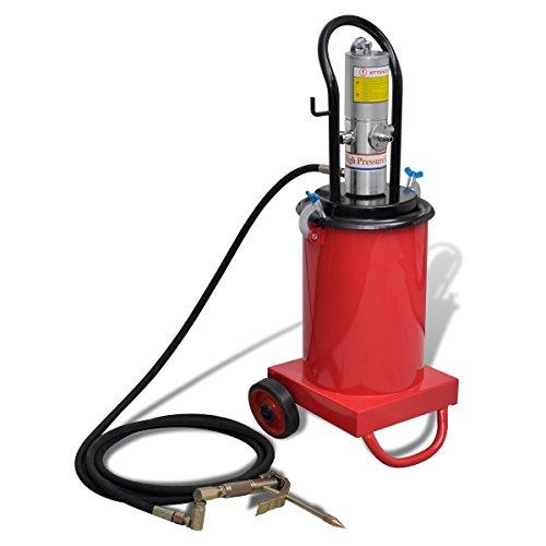 vidaXL Profi pneumatische Fettpresse Druckluft Abschmierpresse fahrbar 12 Liter 140651