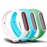 FUNKID Xiaomi Mi Band 2 Pulsera Correa para reemplazo XIAO MI 2 Blanco,Azul,Verde