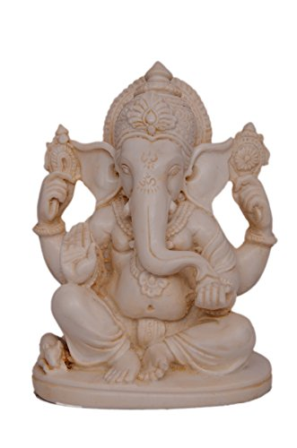 """Trusted venditore speciale 4""""Ganesh Ganesha statua fatto a mano in marmo Home Decor Art migliore regalo"""