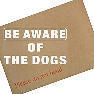 Platinum Place 1x Be Aware of the DOGS-Window Adhesive Vinyl Sticker-WHITE/CLEAR-Security Warning Sign-Home