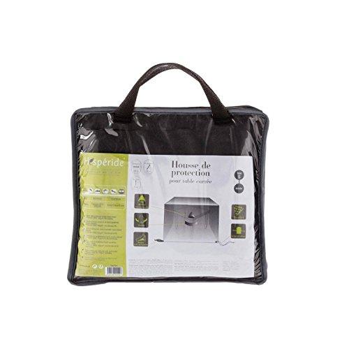 Housse de table carrée - 105 x 105 x 80 cm - Polyester - Gris