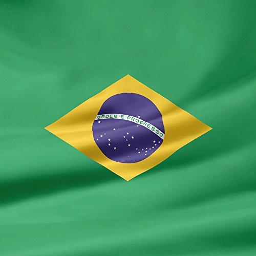 Apple iPhone 4 Housse Étui Silicone Coque Protection Brésil Drapeau Brésil Étui en cuir bleu marine