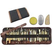 Wartoon 38Pack herramientas de escultura con bolsa reutilizable para cerámica de cerámica de arcilla polimérica. Arte de cerámica.