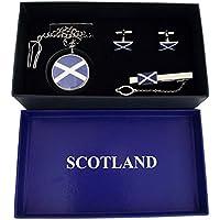 Boxx Scozia Croce Orologio da tasca, Gemelli e fermacravatta Set Regalo di natale