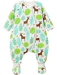 Happy Cherry - Saco de Dormir con Zapatos de Algodón para Bebé Niña con Mangas Largas