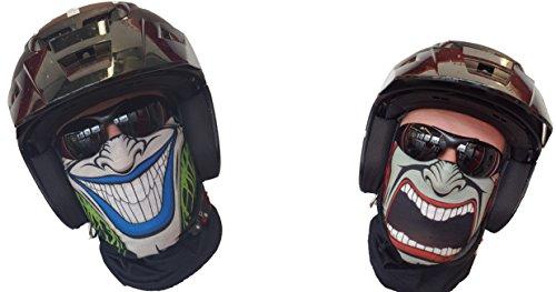 Salt Armour 2er Set Two Sided Halstuch 2 xSchlauchtuch Schal Maske Kälteschutz Doppel Gesicht Gesichtsmaske Halloween Skifahren Snowboard Angeln Jagen Fahrrad Motorrad Paintball