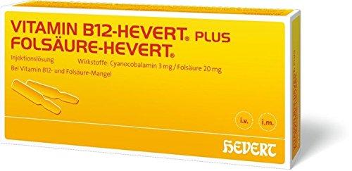 Vitamin B12-Hevert plus Folsäure-Hevert, 100 St. Portionen (Injektion Plus)