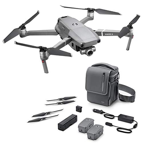 DJI Mavic 2 Zoom Fly More Combo Drone Optical zoom of 24-48 mm, video camera, 12MP 1 / 2.3 '(3 batteries, Charger, External battery adapter, Charge concentrator, 10 propeller pairs, Shoulder bag)