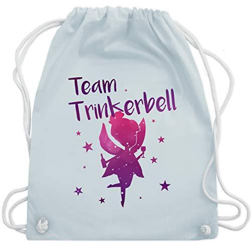JGA Junggesellinnenabschied - Team Trinkerbell - Unisize - Pastell Blau - WM110 - Turnbeutel & Gym - Kostüm Party Rebe