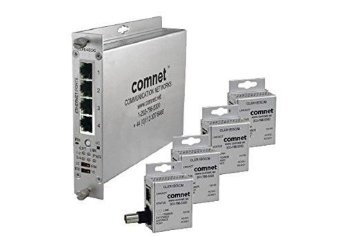 CLEK41EOC, Ethernet über Koax, Kit, 4x Ultra Mini, 1x ComFit, 4 Kanal Din Rail Bracket Kit