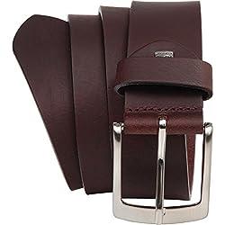 LINDENMANN- hombre, cinturón de cuero marrón bw110 393