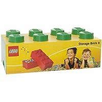Preisvergleich für LEGO Lizenzkollektion 40041734 Stapelbare Aufbewahrungsbox, 8 Noppe, dunkelgrün