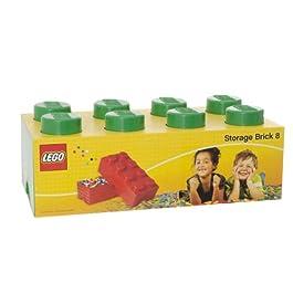 LEGO Storage – Mattone Cesta Contenitore di archiviazione da 8 bottoni, colore Verde