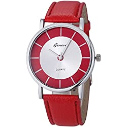 Mallon® Women Retro Dial Analog Quartz Wrist Watch Red
