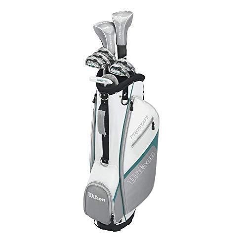 Damen Wilson ProStaff HDX Golf Komplettset Eisen 7-SW, Holz 5, Hybrid 6, Putter Trolleybag