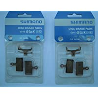 Discos de Freno Shimano Resin G01S 2Pares, revestidos, SLX BRM666 XTR M985 XT 785
