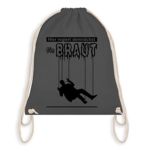 JGA Junggesellenabschied - Hier regiert demnächst die Braut - Turnbeutel I Gym Bag Dunkelgrau