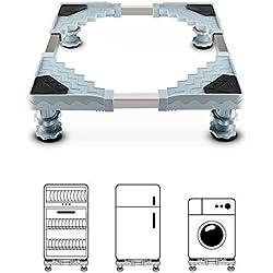 Socle Machine à Laver, Queta Base de Machine à Laver Réglable Base pour Sèche-Linge, Réfrigérateur 50-70CM