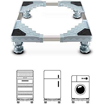4 F/ü/ße Garsent Waschmaschinensockel Untergestell verstellbar Universal Sockel f/ür Trockner oder K/ühlschr/änke