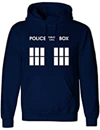 Inspired Police box dr who hoodie sweatshirt Navy blue - From only £11.99