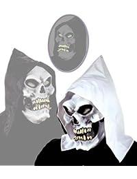 Maske Schädel Skull mit Kapuze Totenkopfmaske Totenkopf halloween horror party