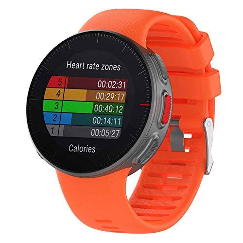 Ruentech Polar Vantage V-Armbänder, weiches und atmungsaktives Silikonband für Polar Vantage V Sport Smartwatch Armband, orange -