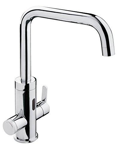 AquaSu 78840 3 Einhandmischer Flash für Spüle mit Sensor-Funktion , Küchenarmatur , Berührungsfreie Bedienung , Chrom