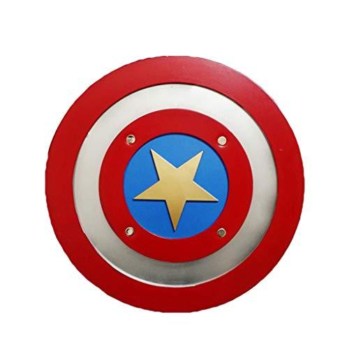 QWEASZER Marvel Avengers Captain America: Bürgerkrieg Captain America Schild Halloween Cosplay Männer Film Kostümfest Deluxe Edition Zubehör,A-44cm (Bürgerkrieg Kostüme Für Männer)