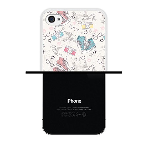iPhone 4 iPhone 4S Hülle, WoowCase Handyhülle Silikon für [ iPhone 4 iPhone 4S ] Blaue portugiesische Filese Handytasche Handy Cover Case Schutzhülle Flexible TPU - Transparent Housse Gel iPhone 4 iPhone 4S Transparent D0038