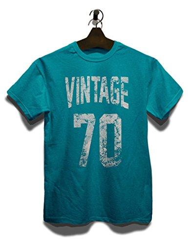 Vintage 1970 T-Shirt Türkis