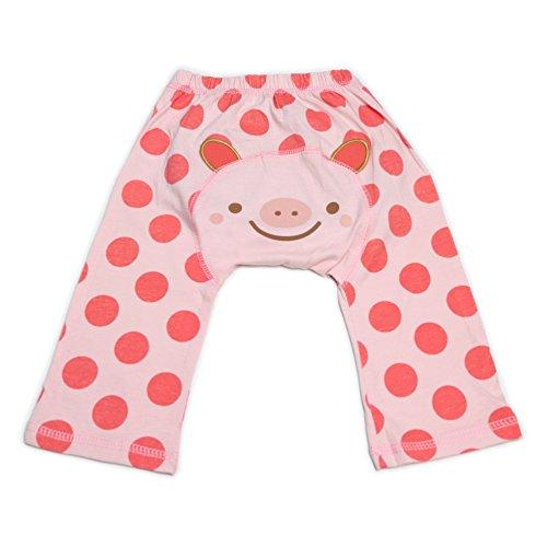 Dotty Fish Bébé et tout-petit Leggings de coton cool Porc rose avec des taches pour les filles - Grand/2-3 Ans
