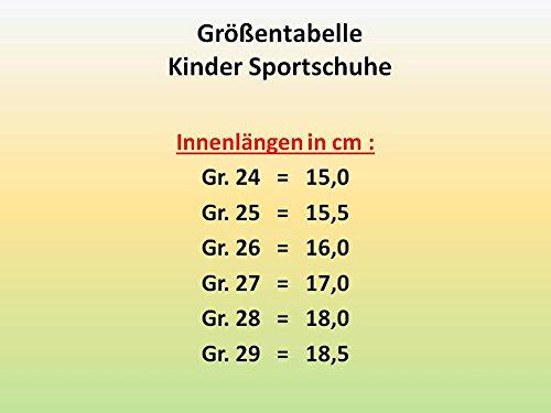 GIBRA® Kinder Sportschuhe für die Turnhalle, mit Klettverschluss, blau/schwarz, Gr. 24-29 Blau/Schwarz