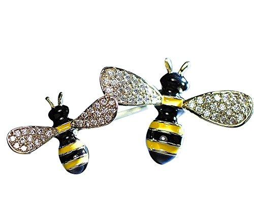Neue Kleidungs-Zusätze Spezielle Bienen-Form-Frauen-Brosche #01