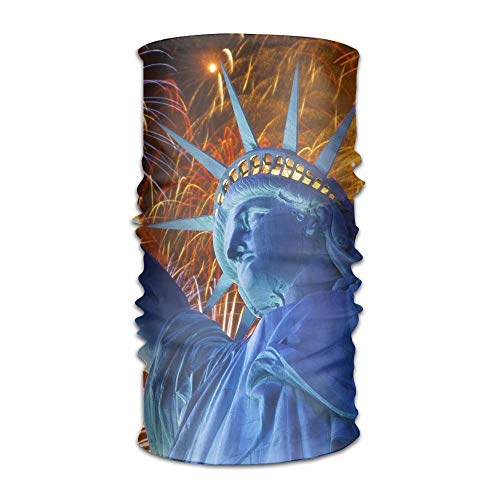 Jieaiuoo Headwear Headband Statue Of Liberty Head Scarf Wrap Sweatband Sport Headscarves For Men Women