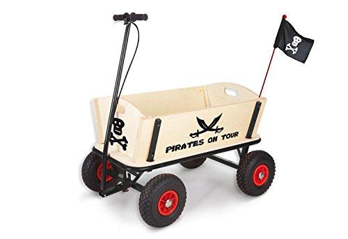 elektro bollerwagen Pinolino 239088 - Pirat Jack Bollerwagen mit Handbremse, 95 x 60 x 58 cm