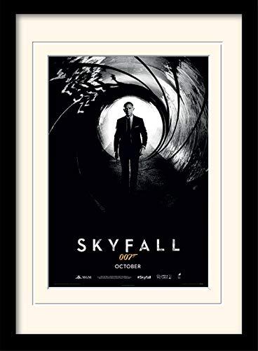 James Bond Skyfall Affiche encadrée A3