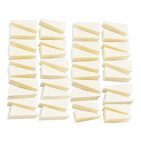 Aboat 40pièces Make Up cales Cosmétique cales Nail Art éponges Forme de triangle Fond de teint Beauté Outil