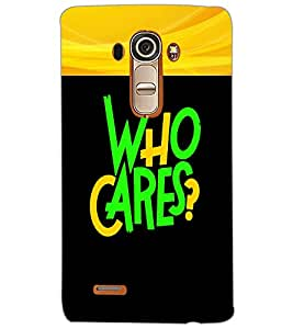 LG G4 WHO CARES Back Cover by PRINTSWAG