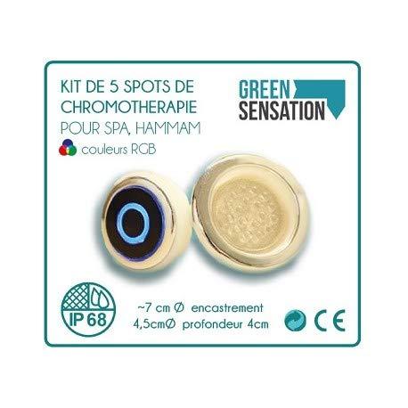 Spot-therapie Kit (Unbekannt 5 Spots für Hammam, Sauna, Spa und Balneo-Therapie-kit)