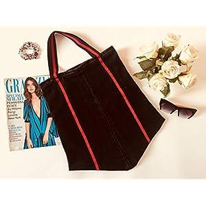 'IZZ A BAG VULCANO - Damen Jeans Schultertasche - Soft Denim Pattern - Made In Italy