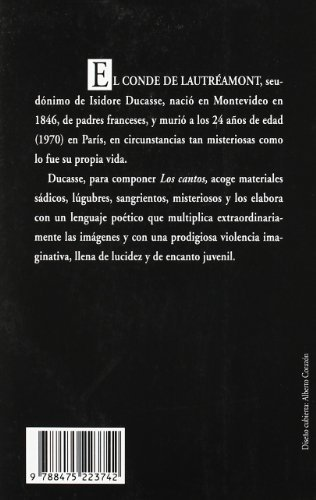Cantos de Maldoror by ISIDORE) CONDE DE LAUTREAMONT (DUCASSE(1905-07-05)