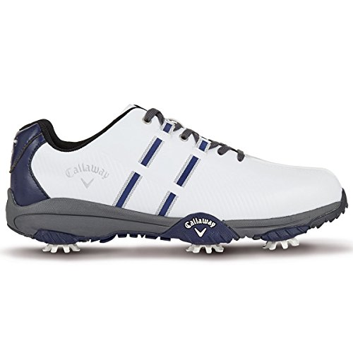 Callaway Golf 2017 Mens Chev Mulligan Golf Shoes - White/Peacoat/Grey - UK 6