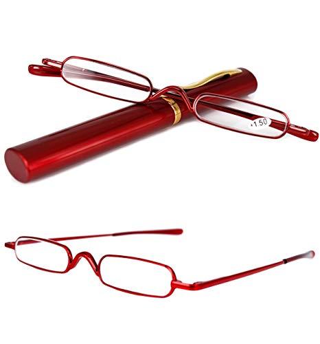 43e8954aaf VEVESMUNDO Gafas de Lectura Hombres Mujer Portátil Metalicas Vista Presbicia  Leer Anteojos.
